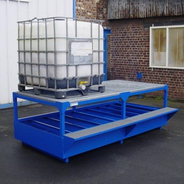 Conteneur pour soutirage avec cubitainer 1000 litres