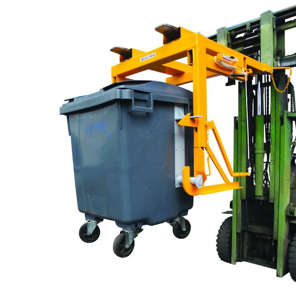Dispositif de déversement de poubelles