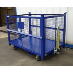 Chariot grillagé tractable 1,5m3