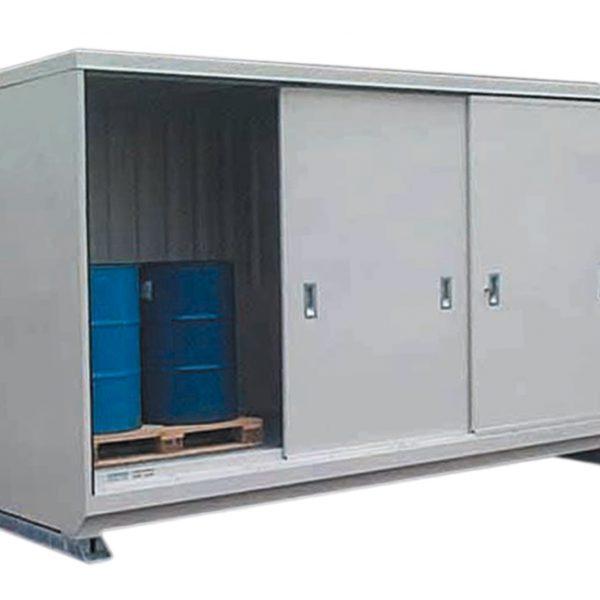 Conteneur 4 m - 1 niveau - portes coulissantes (manergo)