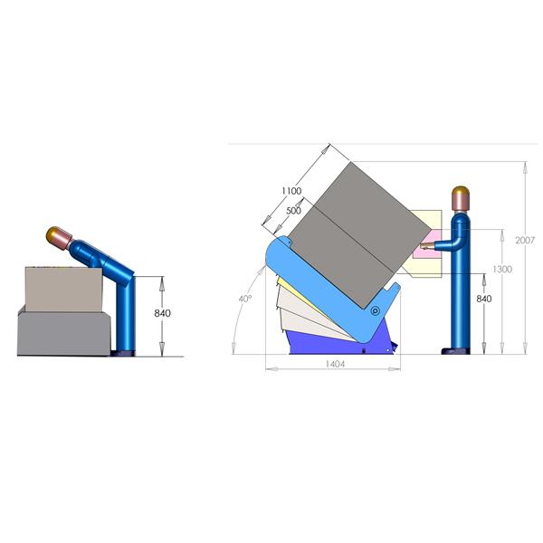 Inclineur de caisse AP40°