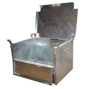 Caisse métallique Galvanisée avec couvercle