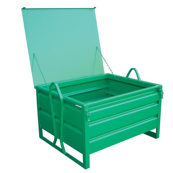 Caisse métallique MANU BOX avec couvercle