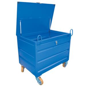 Caisse métallique MAG BOX avec couvercle et roues