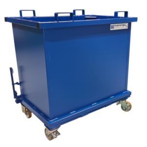 Benne à Fons ouvrant 1000 litres allégée avec roues